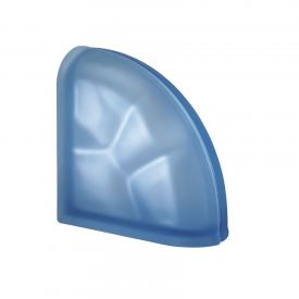 Pegasus Blue Curved End Wavy Satin Finish